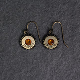Steel Magnolia charm earrings Gold/Topaz