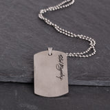 Corey Kent White Tag Necklace Back