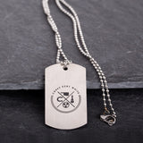 Corey Kent White Tag Necklace Front