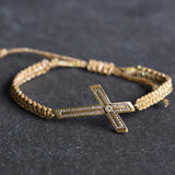 Steel Magnolia Souther Charm Cross Bracelet