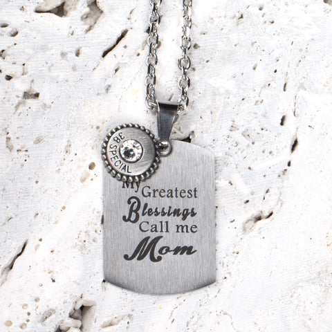Blessings - Mom Quote Tag - w