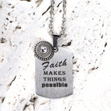 Steel Magnolia Jewelry, Faith Makes Things Possible Quote Tag