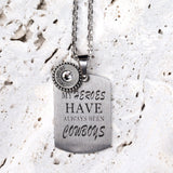 Steel Magnolia Jewelry, Heroes/Cowboys Quote Tag