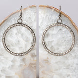 Hoop Earrings with Swarovski Crystals - Steel Magnolia Jewelry