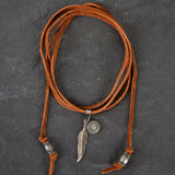 Brown Leather Choker - Steel Magnolia Jewelry