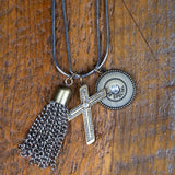 Steel Magnolia Jewelry Tassel Necklace, Oprah length