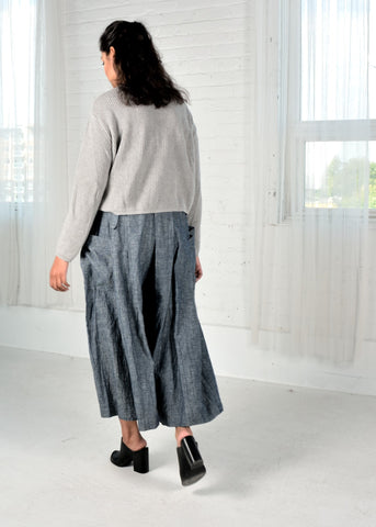 Ruila Cropped Jumper-Grey