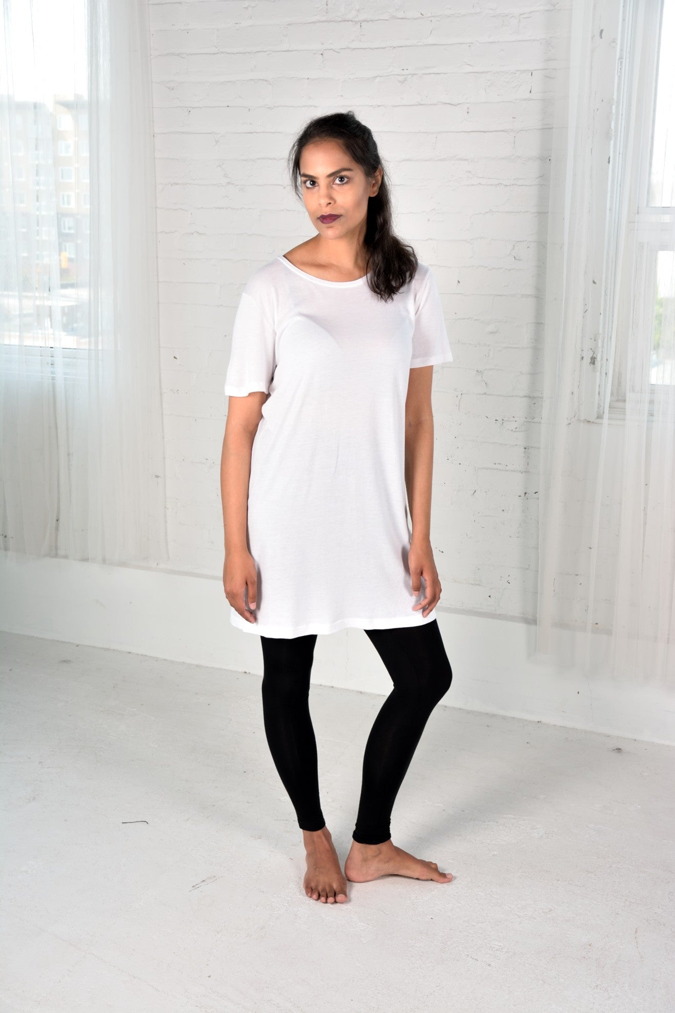 Organic cotton/Bamboo White Tunic