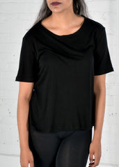 Organic cotton/Bamboo black tee