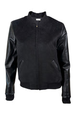 Black Leather Bomber -Atelier Delphine