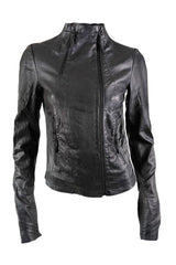 Barbara I Gongini -Washed Leather Jacket