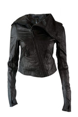 Barbara I Gongini - Thumb hole Leather Jacket