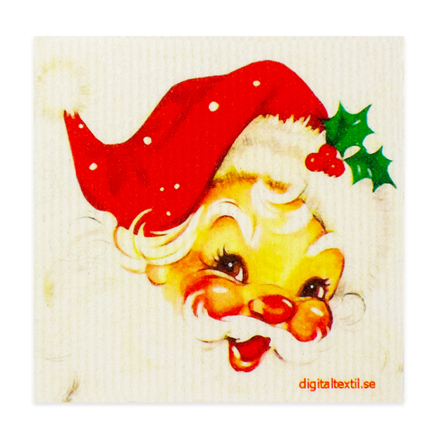 Swedish Dishcloth - Smiling Santa