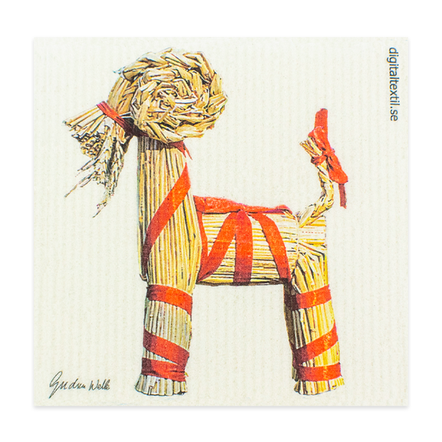Swedish Dishcloth - Straw Goat (Julbock)
