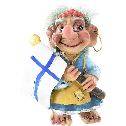 Mini Troll w/ Finland Flag Figurine