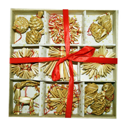 Straw Ornament Assortment Boxed Set (34 pc)