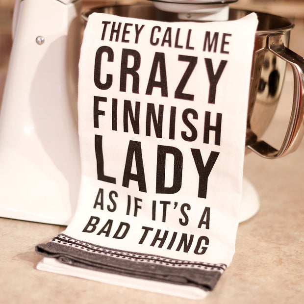 Crazy Finnish Lady Kitchen Towel