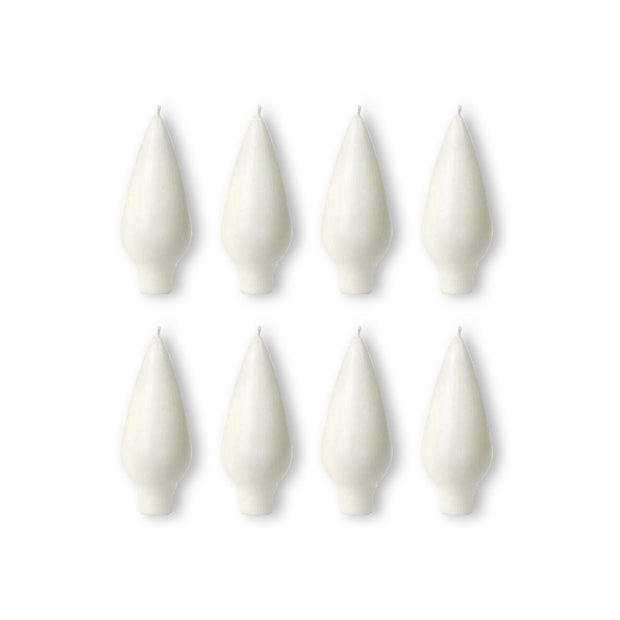 Danish Drop Candle White, 8 Pack (4366502199374)
