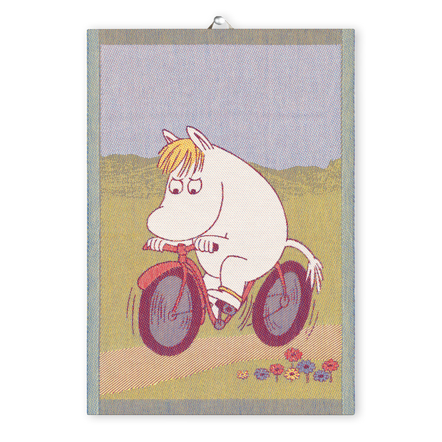 Ekelund Moomin Bike Path Tea Towel