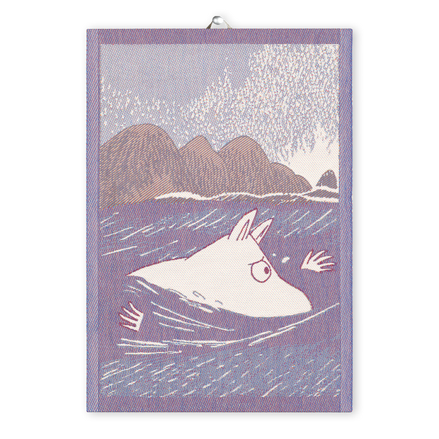Ekelund Moomin Swimming Tea Towel