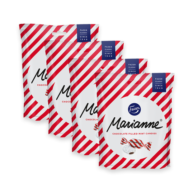 Fazer Marianne Chocolate Filled Mint Candies, 4 Pack