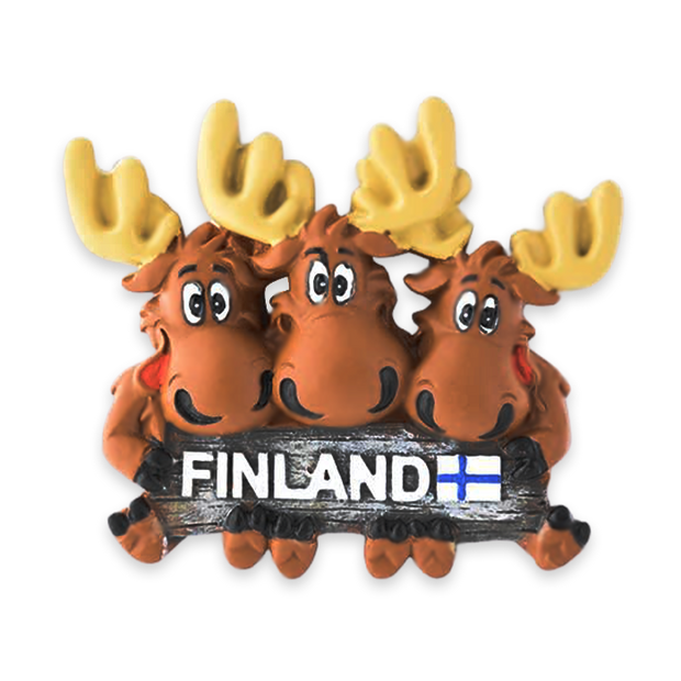 Finland Three Moose Magnet