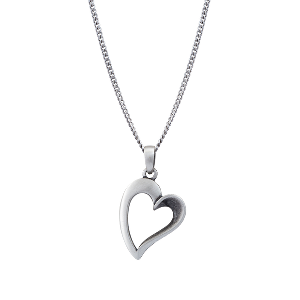 FinnFeelings Heart Silver Necklace