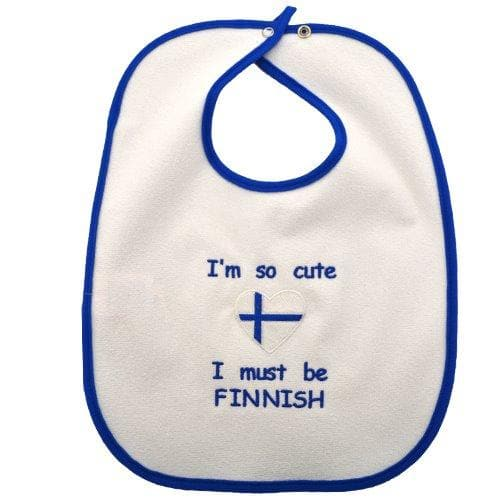 Finnish Baby Bibs - I'm So Cute I Must Be Finnish Finnish Baby Bib Touch of Finland (10606698630)