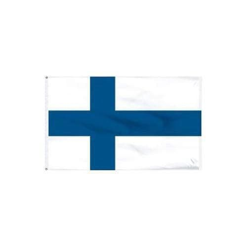 FINLAND FINNISH FINN CROSS COUNTRY FLAG BADGE IRON SEW ON PATCH EUROPE
