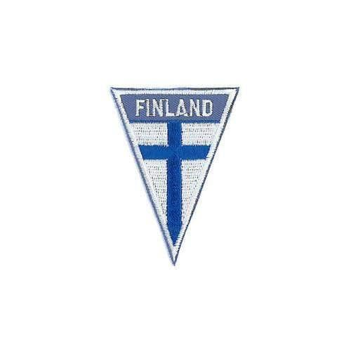 Finnish Flag Patch Triangle - Iron On Finnish Souvenirs Nordic Souvenir (8775767494)