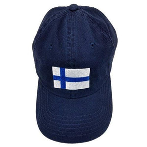 Finnish Hat - Finland Flag, Navy Finnish Baseball Hat Nordic Souvenir