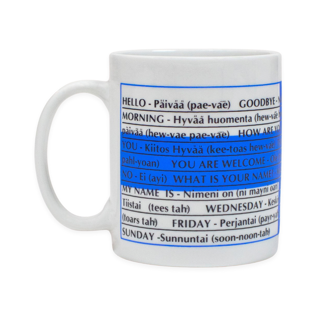 Finnish Coffee Mug - Finnish Language