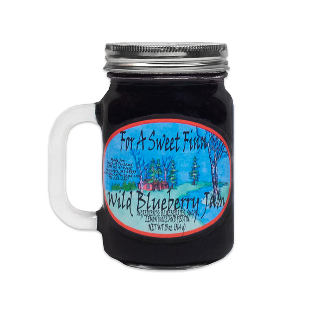 For A Sweet Finn - Wild Blueberry Jam (13 oz)