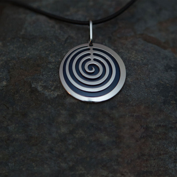 Pohjolan Helmi - Round Spiral Necklace, Midnight Blue