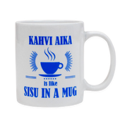Finnish Coffee Mug - Kahvi Aika is like SISU in a Mug