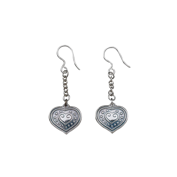 Kalevala Eura Heart Silver Earrings
