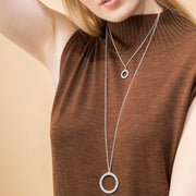 Kalevala Circle of Light Silver Necklace