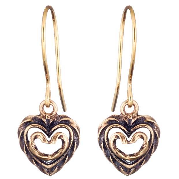 Kalevala Heart of the House Bronze Earrings