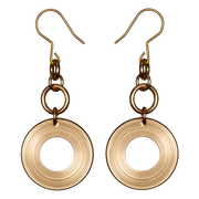 Kalevala Kosmos Bronze Earrings (1385076850766)