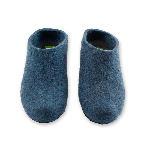 Lahtiset Felt Slippers w/ Rubber Sole, Low Heel (4373742813262)