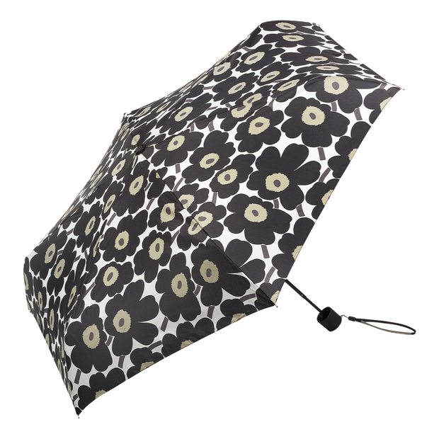 Marimekko Mini Unikko Black Manual Umbrella