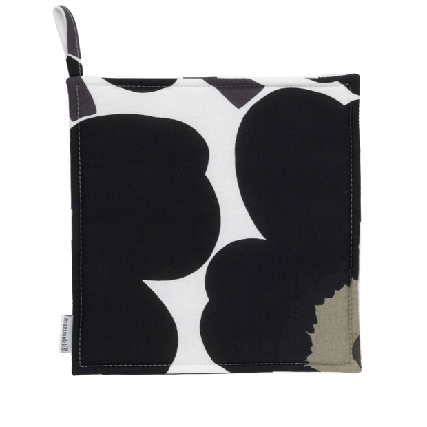 Marimekko Pieni Unikko Black Pot Holder
