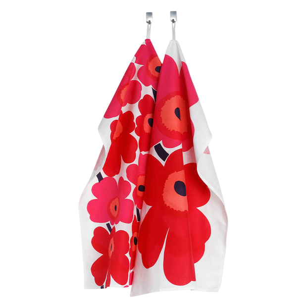 Marimekko Red Unikko Tea Towels - Set of 2