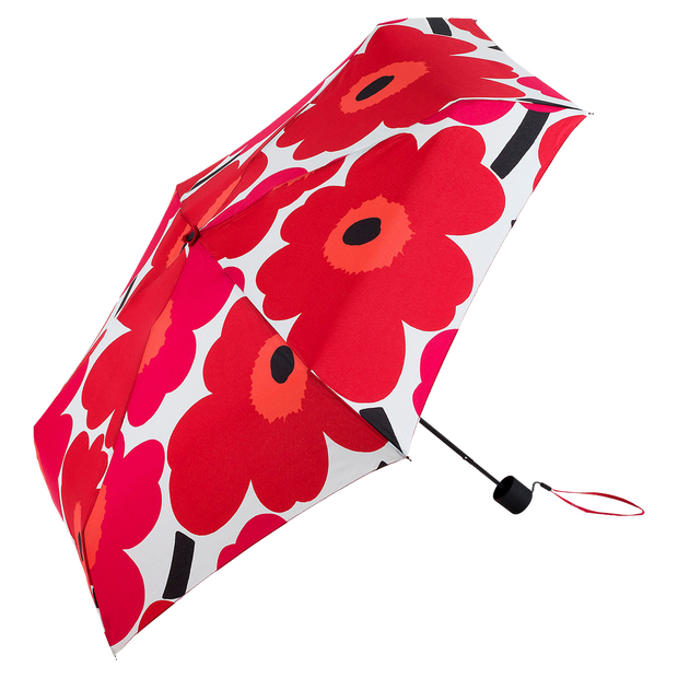 Marimekko Mini Unikko Red Manual Umbrella
