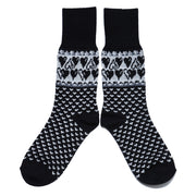 Merino Wool Socks - Hearts, Black (4416463634510)