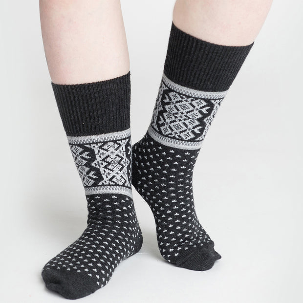 Merino Wool Socks - Ilmari, Grey (4416444006478)