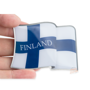 Finnish Flag Metal Magnet