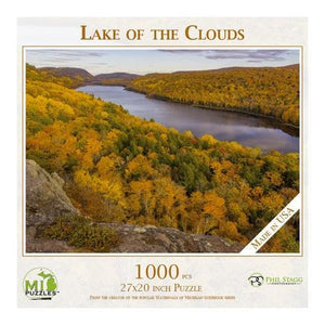 Michigan Puzzle - Lake of the Clouds Yooper Books Touch of Finland