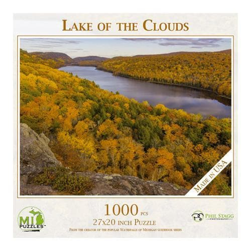 Michigan Puzzle - Lake of the Clouds Yooper Books Touch of Finland (179333562374)