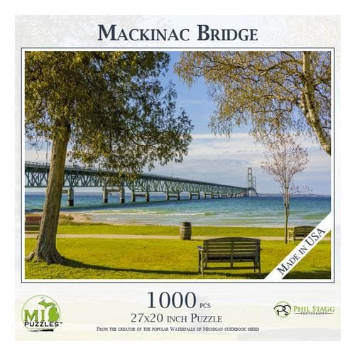 Michigan Puzzle - Mackinac Bridge Yooper Books Touch of Finland (179331825670)